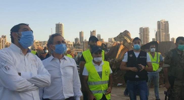 جولة لنعمة على إهراءات القمح في مرفأ بيروت متفقداً الأضرار